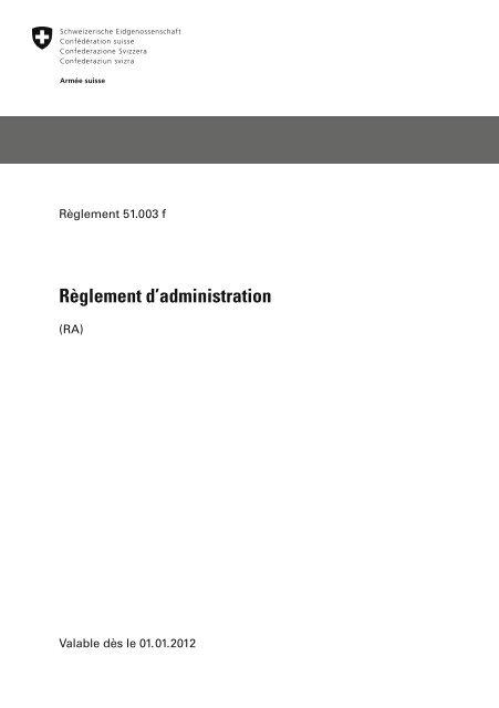 style top Achat/Vente meilleur choix Règlement d'administration - Logistikbasis der Armee LBA