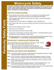 Motorcycle Safety Kentucky Safety Facts - Kentucky Transportation ...