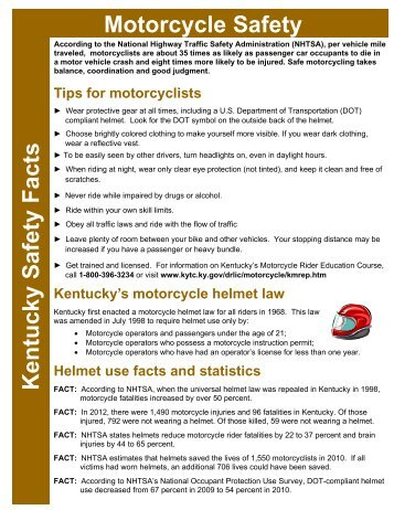 Motorcycle Safety Kentucky Safety Facts - Kentucky Transportation ...