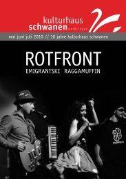 RotFRont - Kulturhaus Schwanen