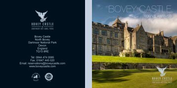 Please click here to download our hotel e-brochure - Bovey Castle