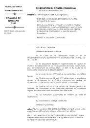 Impôt sur les parcelles non bâties - Bernissart