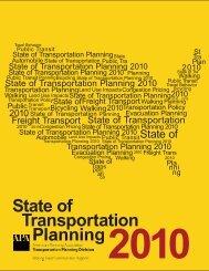 2010 State of Transportation Planning - City of Bellingham