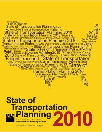 2010 State of Transportation Planning - City of Bellingham