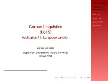 Language variation - Indiana University