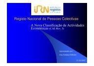 Ana Sommer Ribeiro - Instituto Nacional de Estatística