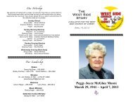 Bulletin 4-14-13 and Peggy Moore Tribute with Changes - West Side ...