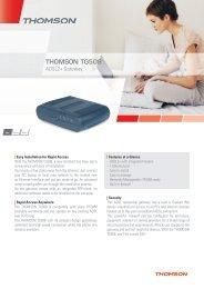 Datasheet THOMSON TG508