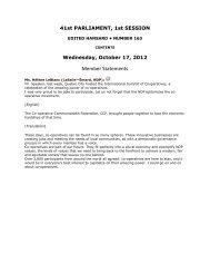 Member Statements