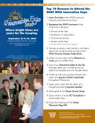 WG Expo flyer:09.qxd - Wisconsin Grocers Association