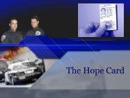 The Hope Card. - National Criminal Justice Association