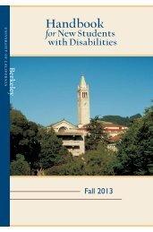 New Student Handbook - Disabled Students' Program