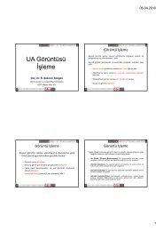 UA Görüntüsü İşleme