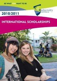 INTERNATIONAL SCHOLARSHIPS - Central Queensland University