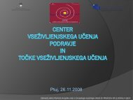 namen in cilji CVŽU Podravje - Center za vseživljenjsko učenje ...