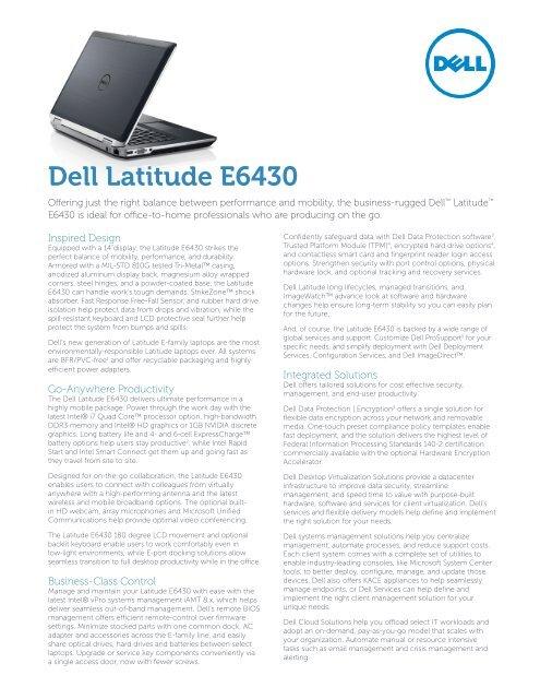 Dell Latitude E6430 Config