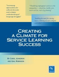 Creating a Climate for Service Learning Success - American ...