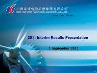2011 Interim Results Presentation - TodayIR.com