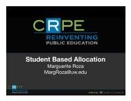 Student Based Allocation Presentation