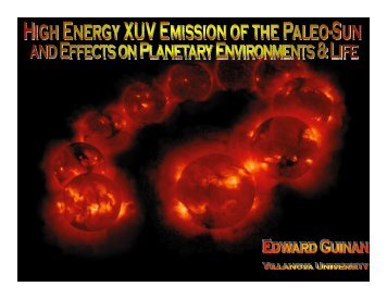 Effects of the Young Sun's Strong XUV Radiation - Solar Physics at ...