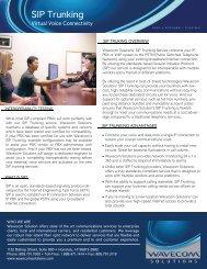 SIP Trunking Datasheet - Wavecom Solutions