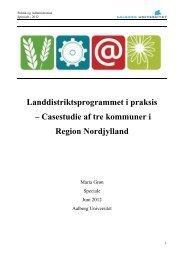 Landdistriktsprogrammet i praksis – Casestudie af tre ... - Sundby Mors