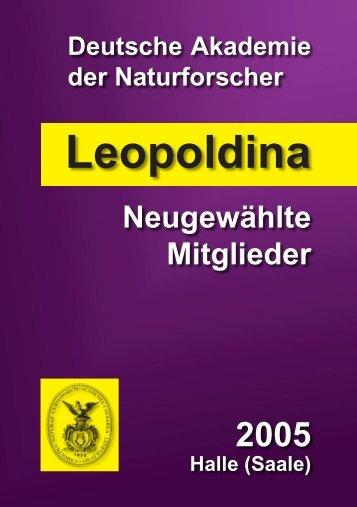Neu gewählte Mitglieder 2005 (pdf) - Leopoldina