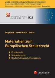 Materialien zum Europäischen Steuerrecht K ofler Bergmann