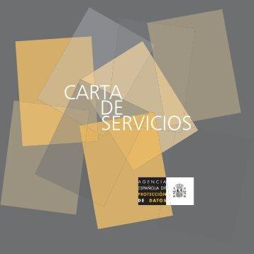 Carta de Servicios (Descarga PDF) - Agencia Española de ...