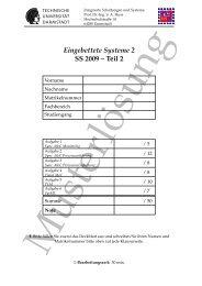 Eingebettete Systeme 2 SS 2009 – Teil 2