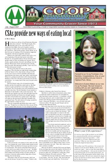 CSAs provide new ways of eating local - Potsdam Food Co-op