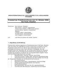 Protokoll der Präsidiumssitzung vom 15. Oktober 2008 ... - Uibaker.org
