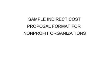 Sample Indirect Cost Proposal Format For Nonprofit  Organizations?qualityu003d85
