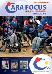 CARA FOCUS National Adapted Physical Activity Newsletter