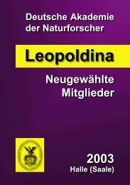 Neu gewählte Mitglieder 2003 (pdf) - Leopoldina