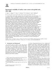 Interannual variability of surface water extent at the global scale ...