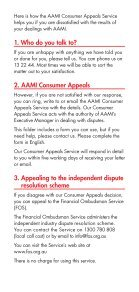 THE AAMI CONSUMER APPEALS SERVICE - Page 2