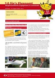Newsletter · 15. Ausgabe 12/2010 - Stadt Leverkusen