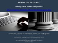 TECHNOLOGY AND ETHICS: Moving Ahead and Avoiding Pitfalls ...