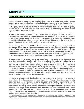 Chapter 1: General Introduction - South African Health Information