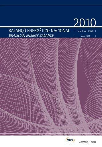 Balanço Energético Nacional 2010 - LEPTEN