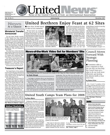 United Brethren Enjoy Feast at 62 Sites - United Church of God
