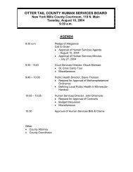 Agenda 08/10/2004 - Otter Tail County