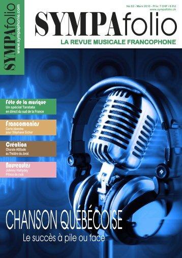 LA REVUE MUSICALE FRANCOPHONE - Sympaphonie