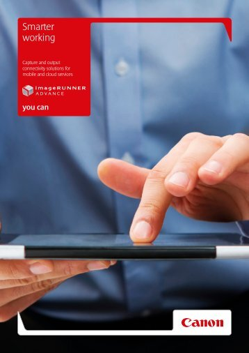 """Mobile and Cloud Connectivity"" brochure - Canon CEE"