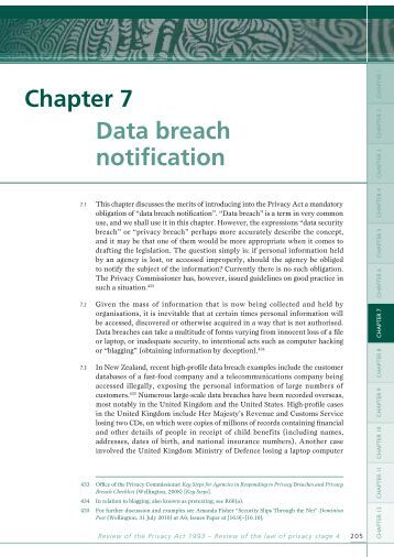 Chapter 7 Data breach notification - Law Commission