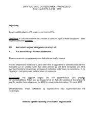 SKRIFTLIG SYGE- OG REEKSAMEN I FARMAKOLOGI den 21. april ...