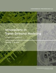 Innovations in Travel Demand Modeling - Transportation Research ...