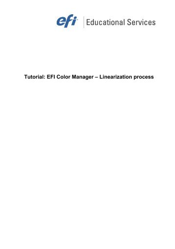 Tutorial: EFI Color Manager – Linearization process - Quentin