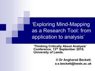 Exploring mind-mapping as a research tool - Sociology and Social ...